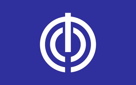 nippon: Flag of Naha is the capital city of Okinawa, the most southern prefecture of Japan. 3D rendering