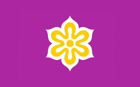 kyoto: Flag of Kyoto Prefecture is a prefecture of Japan located in the Kansai region of the island of Honshu. 3D rendering