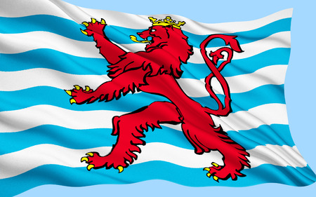 fabric surface: Flag of Luxembourg with fabric surface texture.