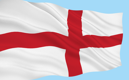 orientated: The national flag of England, London Stock Photo
