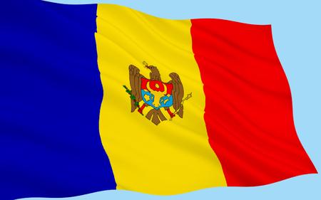 moldavia: The regional flag of the Moldovia (or Moldavia) - a former principality of southeast Europe. In 1861 Moldavia united with Wallachia to form Romania.