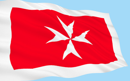 Flag of Malta - A representation of the George Cross, awarded to Malta by Britains King George VI in 1942, is in the top left corner of the flag