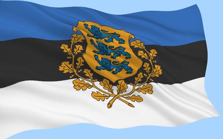The National Flag of Estonia