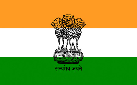 ashoka: Flag of India, officially the Republic of India is a country in South Asia. 3D illustration