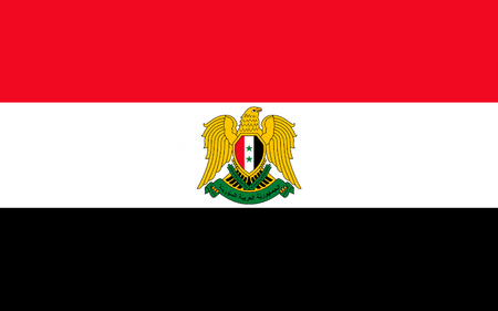 Flag of Syria officially the Syrian Arab Republic, is a country in Western Asia.