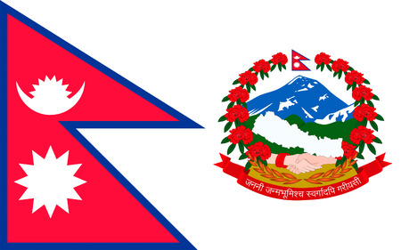 Flag of Nepal officially the Federal Democratic Republic of Nepal is a federal republic and landlocked country in South Asia.