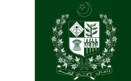 south asia: Flag of Pakistan officially the Islamic Republic of Pakistan, is a country in South Asia. 3D illustration