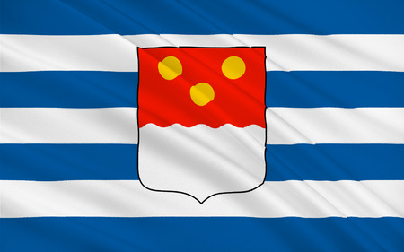 black sea: Flag of Batumi is the second largest city of Georgia, located on the coast of the Black Sea in the country southwest. 3d illustration