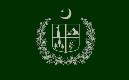 flag of pakistan: Flag of Gilgit-Baltistan formerly known as the Northern Areas of Pakistan is the northern most administrative territory of Pakistan. 3D illustration