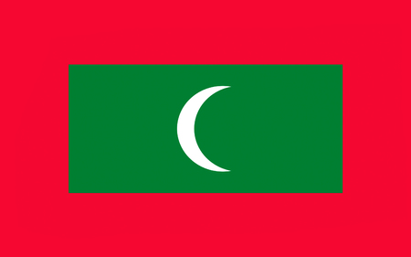symbolize: Flag of Maldives officially the Republic of Maldives is an island country and archipelago in the Indian Ocean. Stock Photo