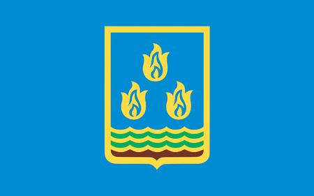 brandish: Flag of Baku is the capital and largest city of Azerbaijan, as well as the largest city on the Caspian Sea and of the Caucasus region.
