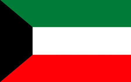 Flag of Kuwait officially the State of Kuwait, is a country in Western Asia.