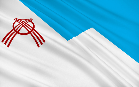 osh: Flag of Osh is the second largest city in Kyrgyzstan, located in the Fergana Valley in the south of the country and often referred to as the capital of the south. 3d illustration