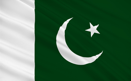 islamabad: Flag of Pakistan officially the Islamic Republic of Pakistan, is a country in South Asia. 3D illustration