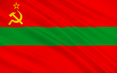 recognized: Flag of Transnistria is a partially recognized state located mostly on a strip of land between the River Dniester and the eastern Moldovan. 3d illustration Stock Photo