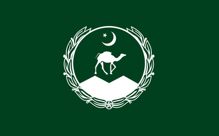 provincial: Flag of Balochistan is one of the four provinces of Pakistan, located in the southwestern region of the country. Its provincial capital and largest city is Quetta. 3D illustration
