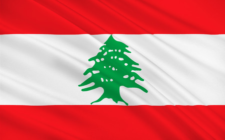 lebanese: Flag of Lebanon officially the Lebanese Republic is a sovereign state in Western Asia. 3d illustration