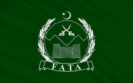 northwestern: Flag of  Federally Administered Tribal Areas is a semi-autonomous tribal region in northwestern Pakistan. 3D illustration Stock Photo