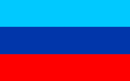 Flag of Luhansk Peoples Republic (LPR or LNR), also known as Lugansk Peoples Republic is a self-proclaimed state in eastern Ukraine.