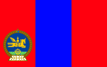 sovereign: Flag of Mongolia is a landlocked sovereign state in East Asia. Stock Photo