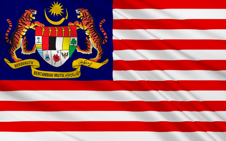 constitutional: Flag of Malaysia is a federal constitutional monarchy located in Southeast Asia. 3D illustration