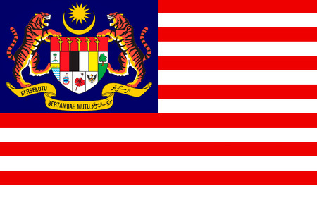 monarchy: Flag of Malaysia is a federal constitutional monarchy located in Southeast Asia. Stock Photo