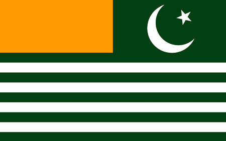 abbreviated: Flag of Azad Jammu and Kashmir abbreviated as AJK and commonly known as Azad Kashmir, en English The Free State Jammu and Kashmir is a self-governing administrative division of Pakistan. 3D illustration Stock Photo