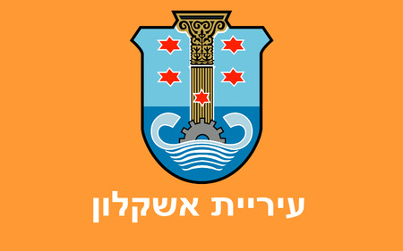 israelis: Flag of Ashkelon is a coastal city in the Southern District of Israel.
