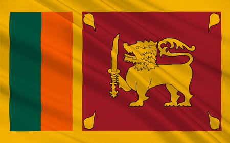 sri lankan flag: Flag of Sri Lanka officially the Democratic Socialist Republic of Sri Lanka is an island country in South Asia near south-east India. 3D illustration