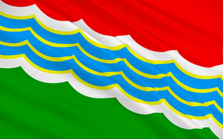 effectively: Flag of Tiraspol is internationally recognised as the second largest city in Moldova, but is effectively capital of unrecognized Pridnestrovian Moldavian Republic (Transnistria). 3d illustration