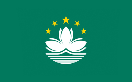 macau: Flag of Macau also spelled Macao, officially known as the Macau Special Administrative Region of the Peoples Republic of China.