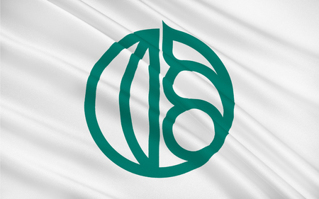 Flag of Isfahan historically also rendered in English as Ispahan, Sepahan, Esfahan or Hispahan, is the capital of Isfahan Province in Iran. 3D illustration