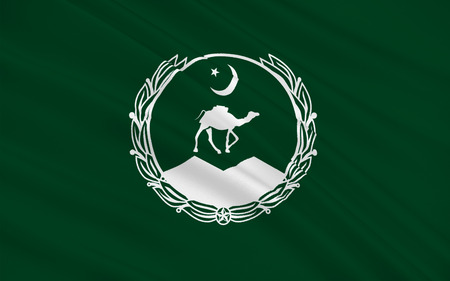 flag of pakistan: Flag of Balochistan is one of the four provinces of Pakistan, located in the southwestern region of the country. Its provincial capital and largest city is Quetta. 3D illustration