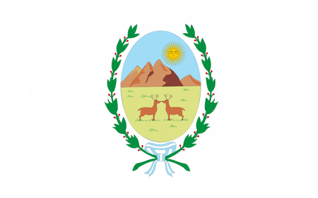 luis: Flag of San Luis is a province of Argentina. 3d illustration Stock Photo