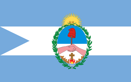 corrientes: Flag of Corrientes is a province in northeast Argentina, in the Mesopotamia region. 3d illustration