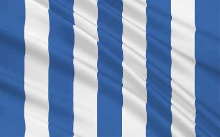 aires: Flag of Mar del Plata is an Argentine city in the southeast part of Buenos Aires Province. 3d illustration