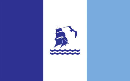 province: Flag of Rio Gallegos is the capital of the Patagonian province of Santa Cruz in Argentina. 3d illustration Stock Photo