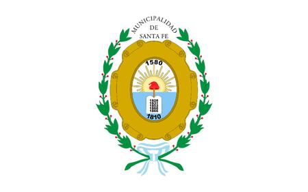 la: Flag of Santa Fe de la Vera Cruz is the capital city of the province of Santa Fe, Argentina. 3d illustration