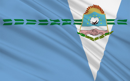 Flag of Formosa Province is a province in northeastern Argentina, part of the Gran Chaco Region. 3d illustration