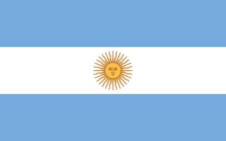 buenos aires: Flag of Argentina, Buenos Aires. 3d illustration