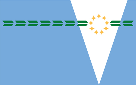 aires: Flag of Formosa Province is a province in northeastern Argentina, part of the Gran Chaco Region. 3d illustration