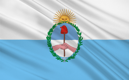aires: Flag of Mendoza is a province of Argentina. 3d illustration
