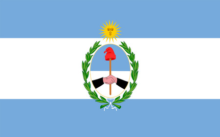Flag of San Juan is a province of Argentina. 3d illustration