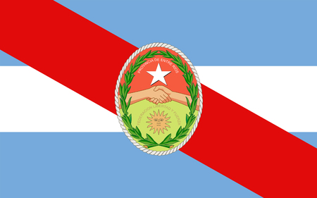 Flag of Entre Rios is a central province of Argentina. 3d illustration Stock Photo