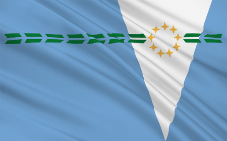 gran: Flag of Formosa Province is a province in northeastern Argentina, part of the Gran Chaco Region. 3d illustration