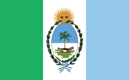 aires: Flag of Province of Chaco is a province in north-eastern Argentina. 3d illustration