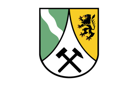 Flag of Saxon Switzerland-East Ore Mountains is a district in the Free State of Saxony, Germany