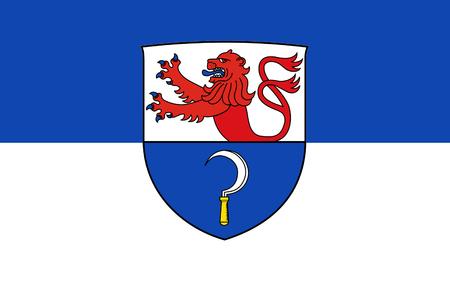 federal republic of germany: Flag of Remscheid is a city in North Rhine-Westphalia, Germany. 3d illustration