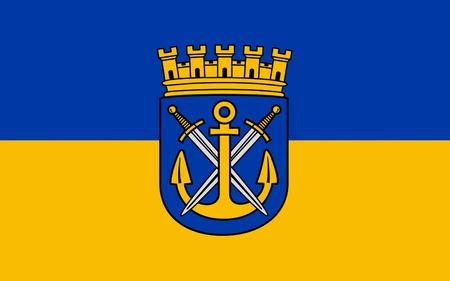 north rhine westphalia: Flag of Solingen is a city in North Rhine-Westphalia, Germany. 3d illustration