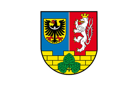 reich: Flag of Gorlitz is a district in the Free State of Saxony, Germany